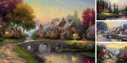 thomas kinkade canvas