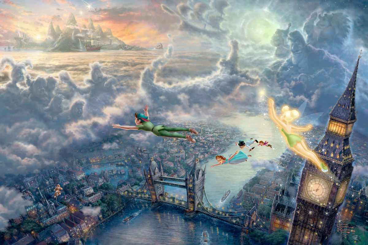 Thomas Kinkade Peter Pan Canvas