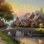 Thomas-Kinkade-Cobblestone-Bridge