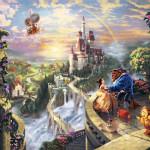 Beauty & The Beast - Thomas Kinkade
